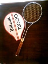 Vtg Wilson Leather Grip USA Light 4 1/4 Metal Tennis Racquet Wilson T2000 Cover