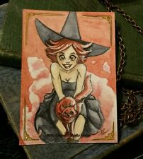 Sketchcard Kitty Ditties &Pretty Ladies Witch Ruby Precious Amber Stone