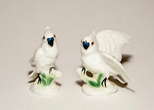 Cockatoos Miniatre Bone Cina Salt & Pepper Shakers