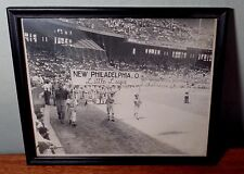 Vintage LITTLE LEAGUE Framed Photo New Philadelphia, Ohio