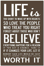 "CHANGE Your Life - Motivational Quotes Art Silk Poster 24x36"" Office Room Decor"