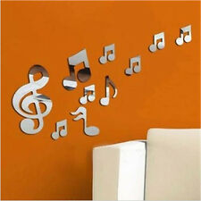 Musical Notes Acrylic Mirrors Wall Sticker Home Decor Decal Art Stickers