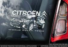 Citroen wrc-voiture fenêtre autocollant-world rally championship team DS3 signe