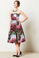 Anthropologie Alpenrose Dress Sz 0, Rhododendron Print Fit & Flare, Tracy Reese