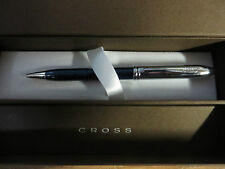 Cross Townsend Translucent Blue Quartz and Chrome Ball Point Pen  $115.00