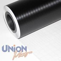 6 x A4 BLACK 3D CARBON FIBRE WRAP VINYL HYPERLEX  (AIR/ BUBBLE FREE) (CAR BIKE)
