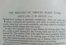 1941 - TIBETAN PLACE NAMES - Political Officer for Sikkim and Tibet - 02