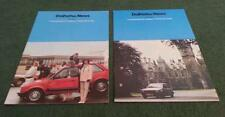 1984 1985 DAIHATSU NEWS 2 x DIFFERENT ISSUES Charade Fourtrak Charmant BROCHURE