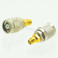 2pcs Conversion Adapter RP*TNC male M to RP*SMA female F connector for Antenna