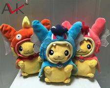 3Pcs/Set Pokemon Magikarp Pikachu Gyarados Plush Stuffed Animal Doll Toys Gifts
