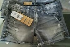 Silver Jeans AIKO Defined Curve Distressed Shorts Size 25 Length 3 Retail $69.00