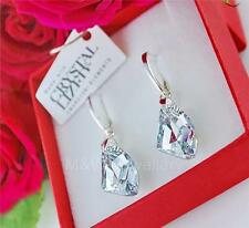 EARRINGS SWAROVSKI ELEMENTS GALACTIC VERTICAL CRYSTAL CAL STERLING SILVER 925