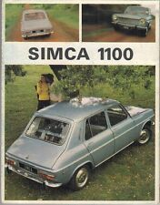Simca 1100 1967-68 UK Market Foldout Sales Brochure LS GL GLS
