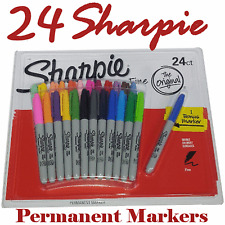 24 + 1  Sharpie Coloured Fine Point Waterproof Permanent Marker Pens Permenent