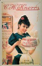Blechschild Knorr Suppen Küche Frau Suppenterrine Schild Reklameschild 20x30