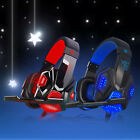 Gaming Headset Headband Headphone USB 3.5mm LED with Mic Surround Stereo for PC