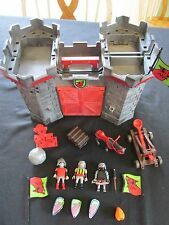 Playmobil Knights Castle Take Along Dungeon Shield Catapult Horse Flags
