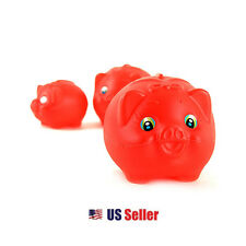 Korea Drama Lovers in Paris Piggy Bank Red Pig Coin Bank : Medium