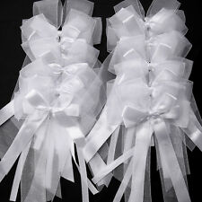 10x Organza Satin Ribbons Bows Bowknot Wedding Cars Gift Wrap Party Decoration