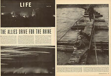 1944 WW2 print article, Allies Drive for the Rhine 5 pages 16 photos  war 073014