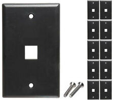 Lot10 Keystone flush Wall face Plate 1/One/Single mount Hole/Jack/Cavity$​{BLACK