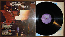 LP RAY CHARLES The world of - Vol. 2 (London/Crossover 75 ITALY) jazz soul MINT!