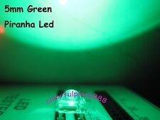 100pcs, 5mm Green Piranha Super Flux LED Dome Wide Angle Super Bright Leds 4-Pin