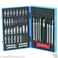 MINI HOBBY KNIFE SET WITH CASE EXACTO BLADES KIT FOR CARVING AND WHITTLING