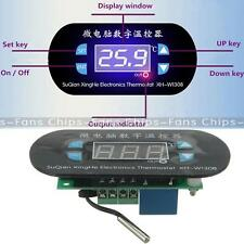 AC/DC 12V Digital Thermostat Temperature Alarm Controller Sensor Meter Blue LED