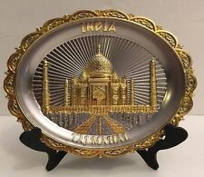 Plate Brass Taj Mahal India Souvenir Collectible Gift Decorate Home Decor