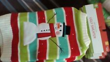 DOG Knitted UGLY SWEATER~Christmas New Year Frosty striped SNOWMAN Costume small