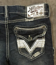 NEW AFFLICTION JEANS $135 GAGE INCLINE SLIM JEANS IN SNOWMASS SZ 36