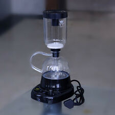 Hot!!! 3 Cups Siphon Brewing Coffee Cooking Machine Electric Glass Coffee Maker