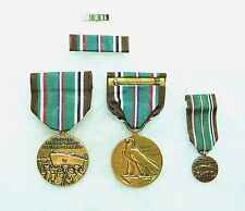 Department of Defense European-African-Middle Eastern Campaign Medal, set of 4