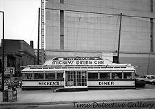 Mickey's Diner in Old Railroad Car, Ramsey, Minnesota 1960s -Vintage Photo Print