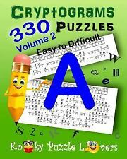 Cryptograms, Volume 2: 330 Puzzles by Kooky Puzzle Kooky Puzzle Lovers (2015,...