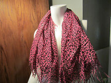Pink Black And Silver Leopard Scarf From Hot Topic