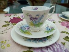 Royal Albert English China Tea Cup Trio Flower Of The Month Larkspur July