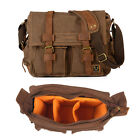Canvas DSLR SLR Camera Shoulder Bag Padded Insert 14