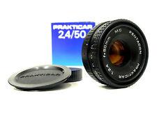 Pentacon prakticar Dresda 2,4/50 mm obiettivo nella sua confezione originale McGriddle 1124