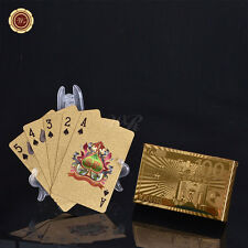 Gold Playing Cards Plated 24k Gold Foil With 100 Euro Back For Casino Poker Game