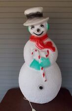 "Vintage 40"" Snowman Dimpled Christmas Blow Mold  Union Products Yard Decoration"