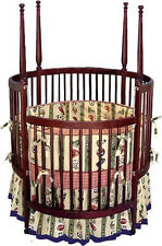 Nursery Baby Poster Round Crib Woodworking Plans On Paper
