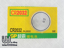 2 Pcs GP CR2032 CR 2032 DL2032 For Computer Motherboard Cell Battery G-shock