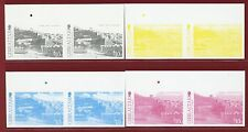 Gibraltar #1378-82, X4 Imperf Color Proofs, Pair, Old Views, Tourism
