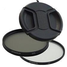 Filtro Ultra Violetto DynaSun UV 55 mm + Polarizzatore Circolare CPL 55mm +Tappo