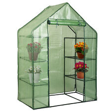 Portable Mini 8 Shelves Walk In Greenhouse Outdoor 4 Tier Green House New