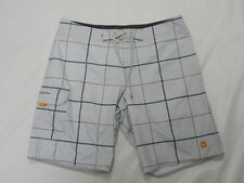 "Quiksilver Waterman Collection Square Root 20"" Gray Boardshorts Swimwear Sz 34"