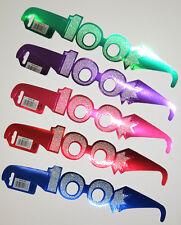 100th Cumpleaños Brillo Gafas (paquete de 5 Multi Color)