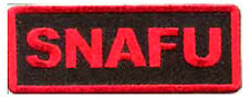Iron On/ Sew On Embroidered Patch Badge Snafu Situation Normal All Fuc**ed Up